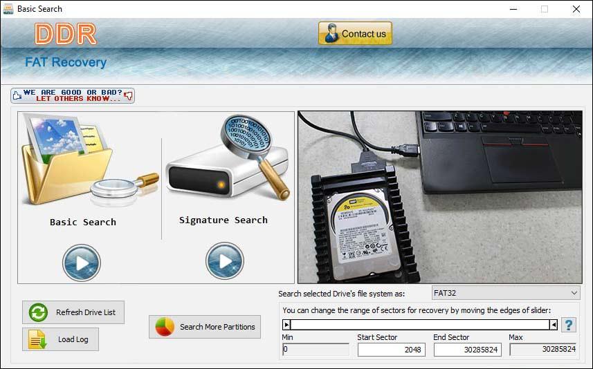 FAT32 Recovery Software screen shot